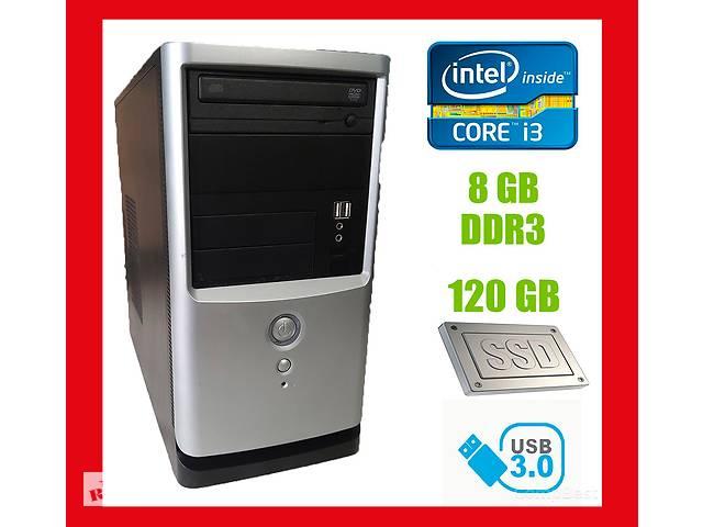 Gigabyte Tower / Intel Core i3-2120 (2 (4) ядра по 3.30 GHz) / 8 GB DDR3 / new! 120 GB SSD / 350W / USB, SATA, PCI 3.0- объявление о продаже  в Киеве