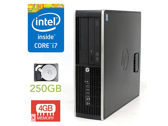 бу HP 6300 Elite SFF / Intel Core i7-2600 (4(8) ядер по 3.4-3.8GHz) / 4GB DDR3/ 250GB HDD в Киеве