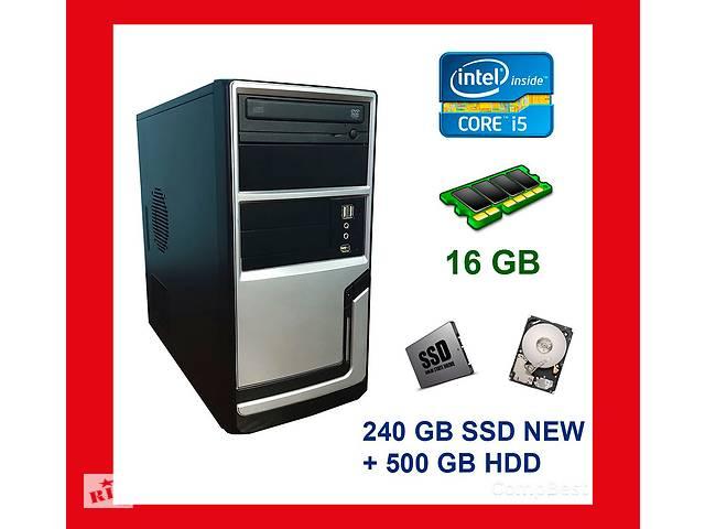 купить бу Компьютер Hyundai Tower / Intel Core i5-3450 / 16 GB DDR3 / 240 SSD NEW+500 HDD / AMD Radeon RX 560 4 GB / DWD-RW в Киеве