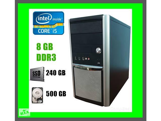 купить бу Компьютер Hyundai Pentino MT / Intel Core i5-4570 / 8 GB DDR3 / new! 240 GB SSD+500 GB HDD купить в Киеве