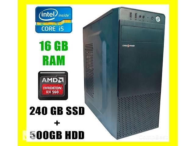 бу Logic Power LP2008 / Intel Core i5-3570 / 16GB DDR3 / 240GB SSD+500GB HDD / Radeon RX560 4GB GDDR5 128 bit в Киеве