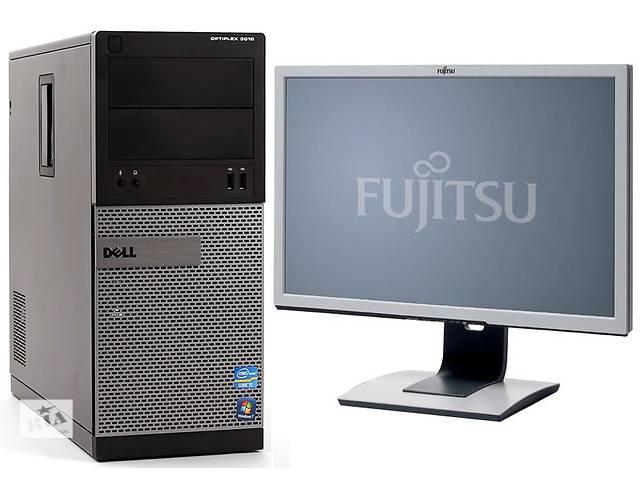 купить бу Офісний комп'ютер Dell OptiPlex 3010: Intel Pentium G2020 / 4096 МБ ddr3 / 250 gb + Монітор 22 дюйма в Києві