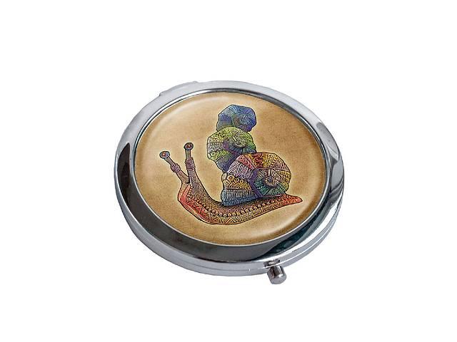 купить бу Зеркальце косметическое DM 01 Улитка коричневое - 176830 в Одессе