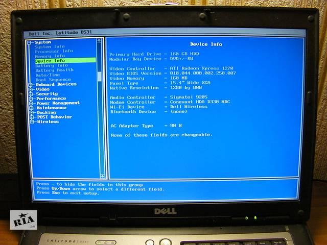 """бу Dell Latitude D531 15.4"""" LCD COM-Порт AMD Turion 64x2 TL-60 2.0ГГц 2ГБ/160ГБ Новое ЗУ из США в Киеве"""