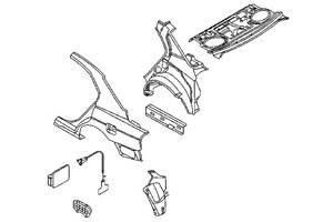 б/у Крылья задние Land Rover Range Rover
