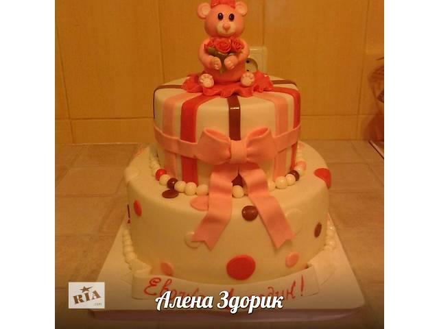 Детский 2-х - ярусный торт с мишкой - объявление о продаже  в Киеве