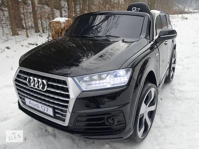 купить бу Дитячий електромобіль Audi Q7 Lift: шкір.сидіння м'які колеса EVA в Львові