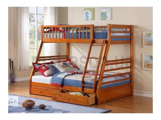 бу Двухъярусная трьохспальне кровать семейного типа Юлия массив дерева в Киеве