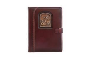 Ежедневник кожаный не датированный Георгий Победоносец BST 260010 А5 15х21 см. коричневый
