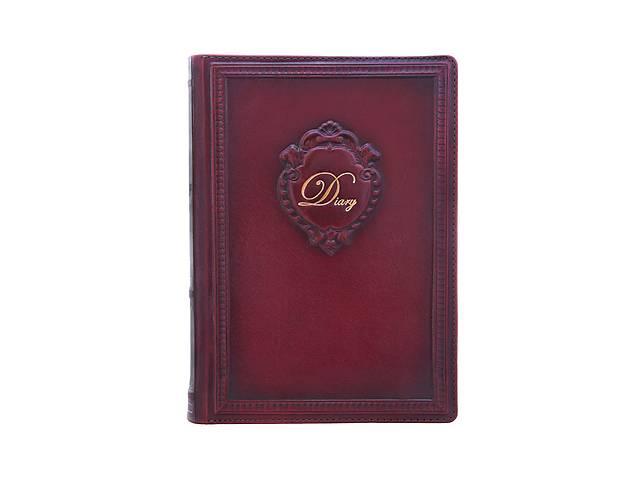 Ежедневник кожаный не датированный Вензель BST 260031 А5 15х21 см. темно-коричневый- объявление о продаже  в Киеве