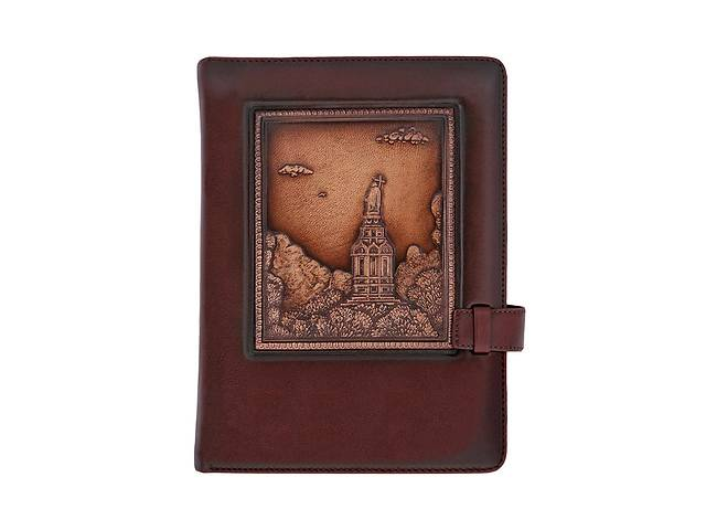 продам Ежедневник кожаный не датированный Владимирская Горка BST 260005 А5 15х21 см. коричневый бу в Киеве