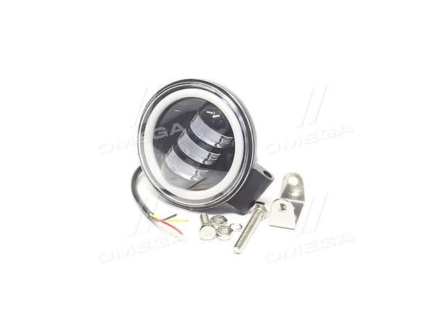 Фара LED кругла 30W, 3 лампи з лінзою, 110 * 55 мм, широкий промінь, 12 / 24V (Китай)- объявление о продаже  в Харкові