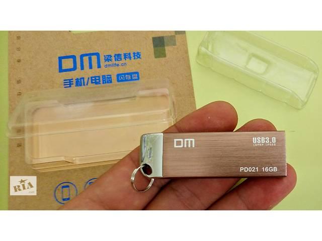 бу Флешка новая DM 16 Гб USB 3.0 металлический корпус в Светловодске