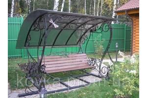 Качеля садовая кованая