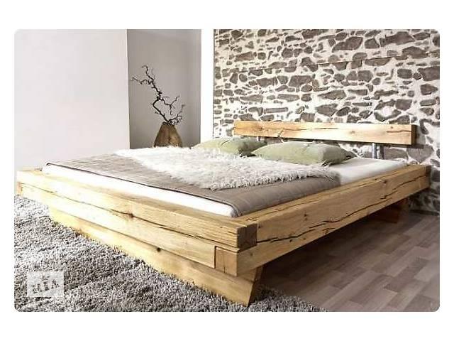 купить бу Двоспальне ліжко з натурального дерева в Києві