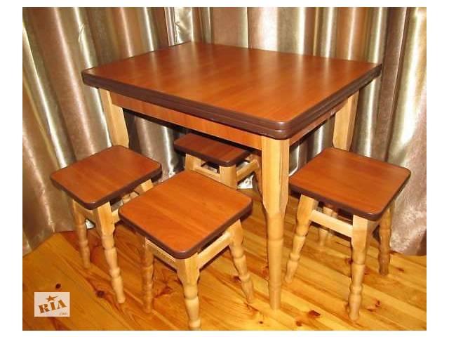 Кухонный Стол + Табуреты Кухонный Разные Цвета ! Каракас Дерево
