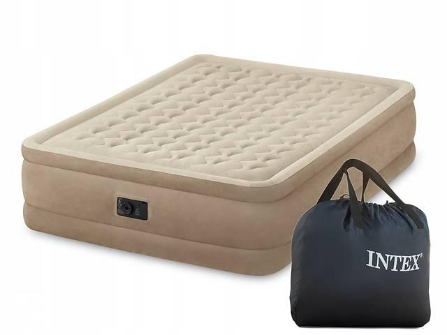 Надувной велюр-матрас Intex 64458,надувная кровать 152*203*46см со встроенным насосом- объявление о продаже  в Одессе