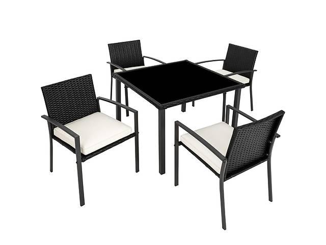 продам Садовая мебель Meran 4 + 1 черный и коричневый бу в Львове