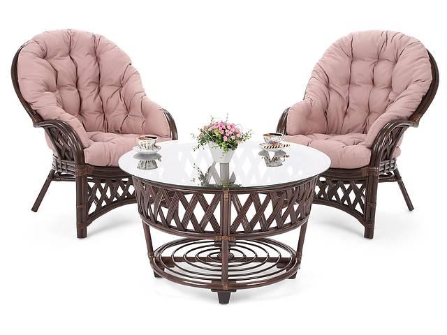Садовый комплект мебели из ротанга DIEGO BROWN / CAPPUCCINO 2 + 1- объявление о продаже  в Львове