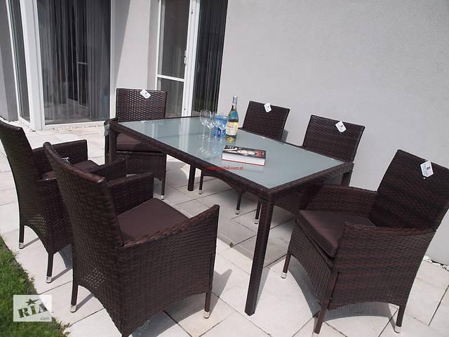купить бу Садовый набор мебели ENDO 6 + 1 стол 150/90 искусственный ротанг в Львове