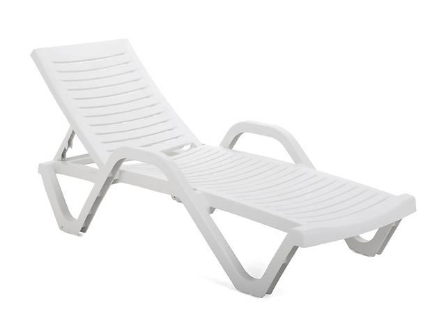 бу Садовый и пляжный шезлонг лежак HAVANA BASIC WHITE в Львове