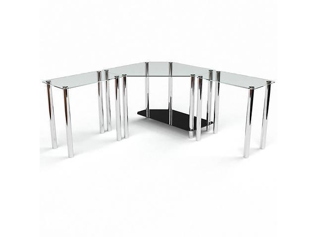 продам Стеклянный компьютерный угловой стол БЦ Стол Кредо бу в Киеве
