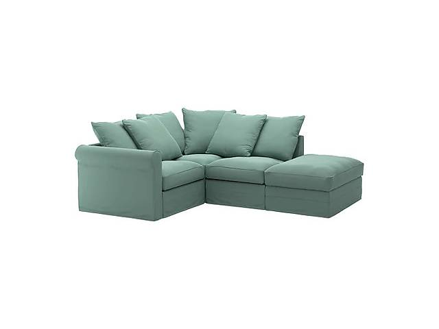 купить бу Трехместный угловой диван IKEA GRÖNLID Ljungen Светло-зеленый (192.562.32) в Киеве