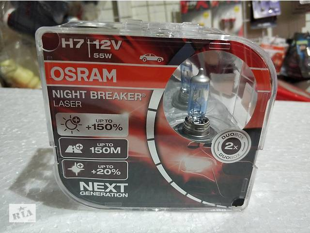 купить бу Галогенка H7 OSRAM 12V 55W +150% 64210NBL Night Breaker Laser в Харькове