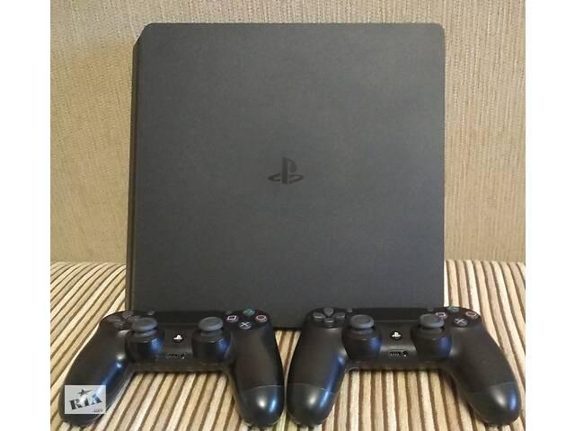 купить бу PS4 Slim.2 джойстика,1TB памяти. в Одессе