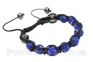 Браслет Шамбала (кружки Ø10мм):Синий