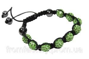 Браслет Шамбала (кружки Ø10мм):Зеленый