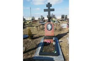 Гранітні хрести на могилу, подкрестник, пам'ятники Коростишів, граніт, габро, лабрадорит, мармур, анортозит