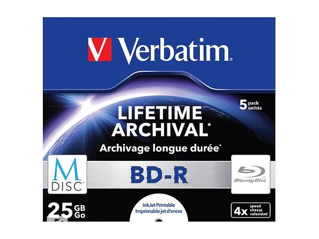купить бу Диск BD Verbatim DL 25Gb 4x Jewel Case 5шт M-Disc Archival Media (43823) в Киеве