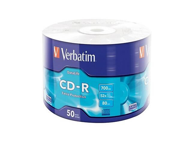 продам Диск CD Verbatim 700Mb 52x Wrap-box Extra (43787) бу в Киеве