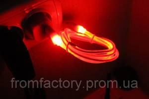 Кабель USB to micro USB (с подсветкой наконечников, 1 м):Красный