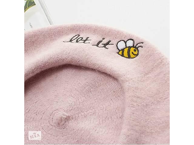 бу Вовняний бере з вишивкою бджілкою let it bee в Шостці