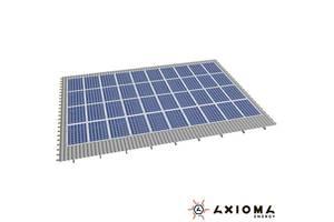 Система креплений на 114 панелей параллельно крыше, алюминий 6005 Т6 и нержавеющая сталь А2, AXIOMA energy