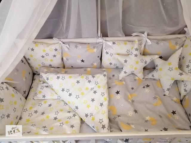 купить бу Детское постельное бельё в кроватку ТМ Bonna Перфект Светло-Серое в Одессе