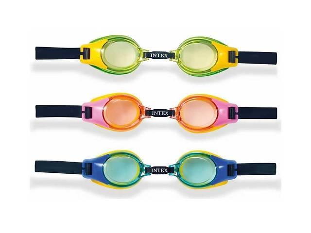 купить бу Intex Очки для плавания 55601 (12) 3 цвета, на листе, 3-10лет / 19,2-12,5см в Одессе