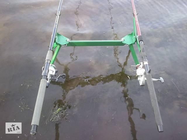Подставка под 2 удилища донного, поплавочного и фидерного (+ видео)