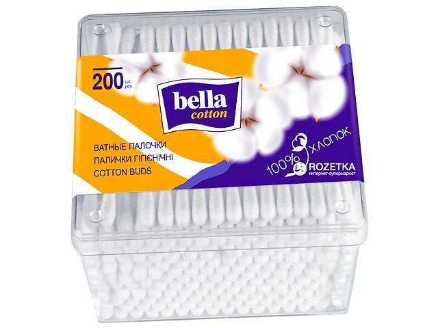 Ватные палочки Bella в прямоугольной упаковке, 200 шт.