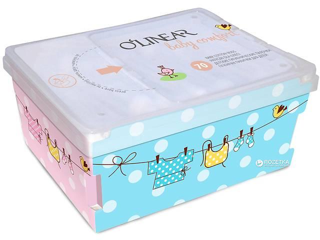 Ватные палочки с ограничителем O'Linear Baby comfort 70 шт