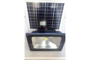 Автономный прожектор на солнечной батарее ZJL GY-SFL-50В c датчиком движения 50w.