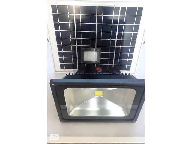 Автономный прожектор на солнечной батарее ZJL GY-SFL-50В c датчиком движения 50w.- объявление о продаже  в Дубно