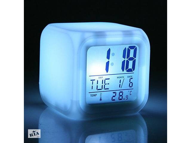 купить бу Часы хамелеон ночник термометр будильник в Сумах