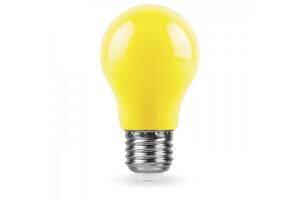Декоративна світлодіодна лампа жовта антимоскітна LB-375 Е27 3W 230V Код.59589