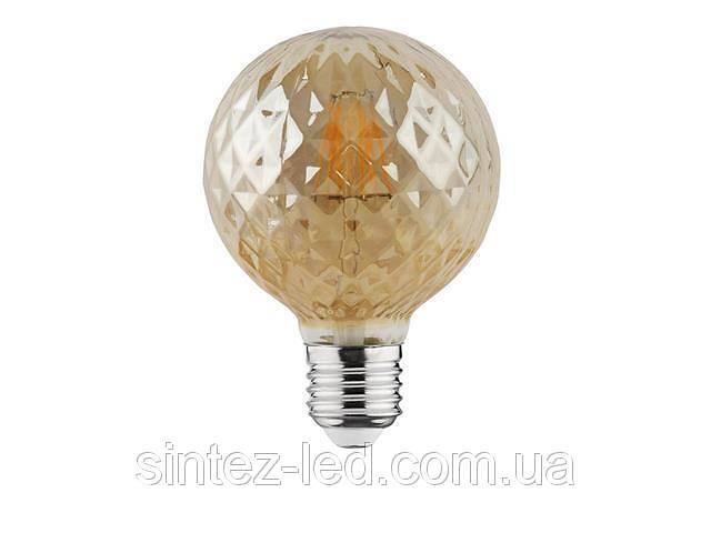 бу Светодиодная лампа Эдисона Filament VINTAGE TWIST-4 4W D95 Е27 2200K (мат.золото) Код.58959 в Киеве