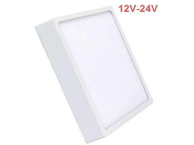бу Светодиодный cветильник накладной Slim SL-465 12W 12-24V 4000K квадрат белый IP20 Код.59467 в Киеве