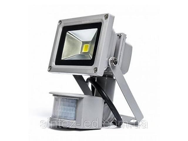 Светодиодный прожектор LMPS-10 10 Вт с датчиком движения  (6500К) IP44 Код.58377- объявление о продаже  в Киеве