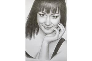 Портрет по фото на заказ карандашом или пастелью